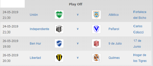 IPlay Off clasificatorio al Super 4.